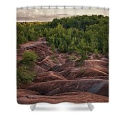 Last Look At The Badlands Shower Curtain
