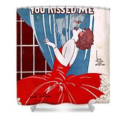 Last Night I Dreamed You Kissed Me Shower Curtain
