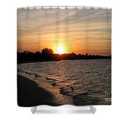 Last Rays Of Sun Shower Curtain