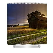 Last Sigh Shower Curtain by Debra and Dave Vanderlaan