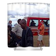 Last Stop The Top Shower Curtain