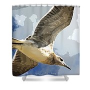 Last Winds Of Issac Posterized  Shower Curtain