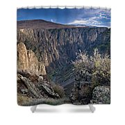 Late Afternoon At Black Canyon Of The Gunnison Shower Curtain