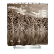 Late Afternoon At The Lake - S Shower Curtain