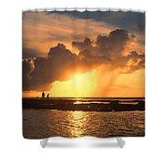 Late Afternoon Beach Walk Shower Curtain