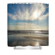 Late Afternoon On An Oregon Beach Shower Curtain