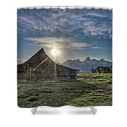Late Evening At Moulton Barn Shower Curtain
