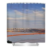 Late Evening Over San Francisco Shower Curtain