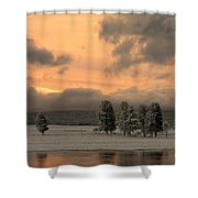 Late Spring Storm In Yellowstone Shower Curtain