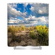 Late Summer Dunes Ocean City Shower Curtain