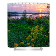 Late Summer Lake Shower Curtain