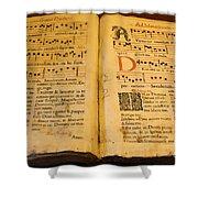 Latin Hymnal 1700 Ad Shower Curtain