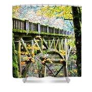 Latourel Creek Bridge Shower Curtain