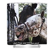 Laughing Horse Shower Curtain