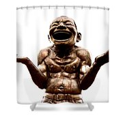 Laughter Shower Curtain by Ramona Johnston