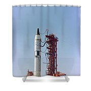 Launch View Of The Gemini-titan 3 Shower Curtain