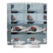 Launching The Lifeboat Shower Curtain