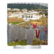 Laundry Day In Azores Shower Curtain