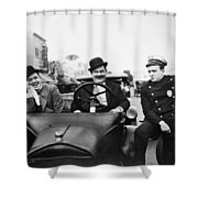 Laurel And Hardy, 1928 Shower Curtain