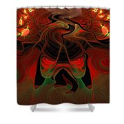 Red Hot Lava Shower Curtain