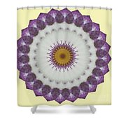 Lavender And Yellow Kaleidoscope Shower Curtain