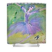 Lavender Ballerina Shower Curtain