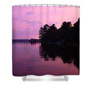 Lavender Lake Shower Curtain