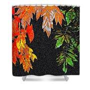 Lavish Leaves 5 Shower Curtain