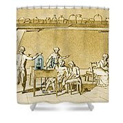 Lavoisier Experimenting Shower Curtain