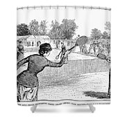 Lawn Tennis, 1883 Shower Curtain