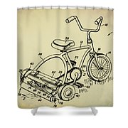 Lawnmower Tricycle Patent Shower Curtain