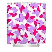 Layered Butterflies  Shower Curtain