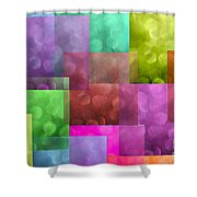 Layered Tiles Abstract Shower Curtain