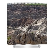 Layers Of Rock In The Badlands Shower Curtain