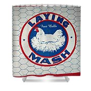 Laying Mash Shower Curtain