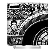Le Car In Black And White Shower Curtain