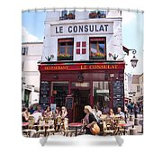 Le Consulat Cafe  Shower Curtain