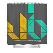 Le Corbusier Quote Poster Shower Curtain
