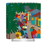 Le Village Shower Curtain