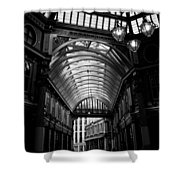 Leadenhall Market Black And White Shower Curtain