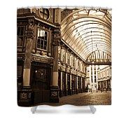 Leadenhall Market London Sepia Toned Image Shower Curtain