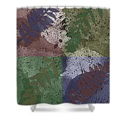 Leaf Boxes Shower Curtain