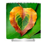 Leaf Leaf Heart Love Shower Curtain