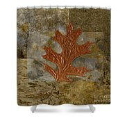 Leaf Life 01 -brown 01b2 Shower Curtain by Variance Collections