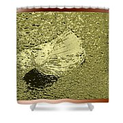 Leaf Mytallique Shower Curtain
