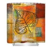 Leaf Whisper 4 Shower Curtain