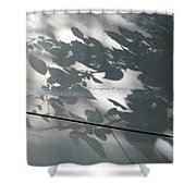 Leafy Silhoutte Shower Curtain