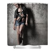 Lean Against The Wall Shower Curtain