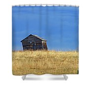 Leaning Barn Shower Curtain