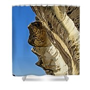 Leaning Rock Shower Curtain by Kaye Menner